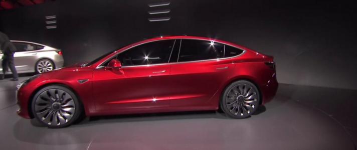 Tesla Model 3 Revealed